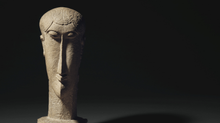 Christie's Offer Modigliani's 'Tête' Sculpture With