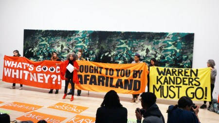 A Decolonize This Place protest at