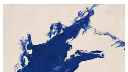 Yves Klein Painting to Go Up