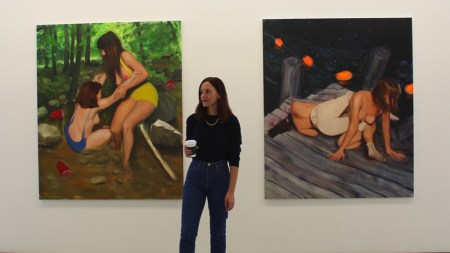 "Jenna Gribbon on her ""Wrestlers"" paintings"