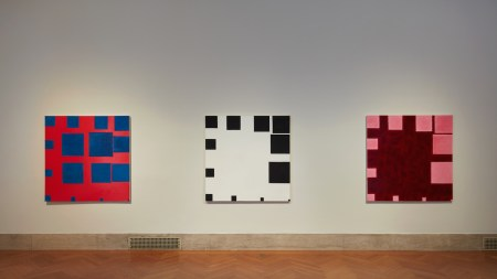 Installation view of works by Paul