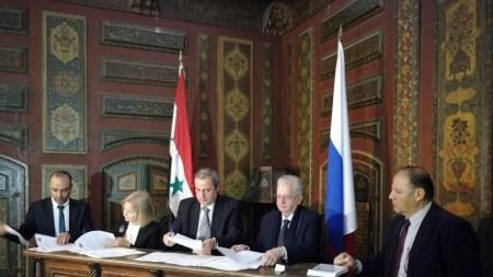 Mahmoud Hammoud, Mikhail Piotrovsky, Palmyra restoration