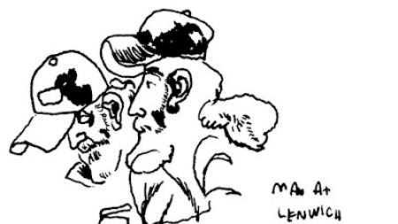 A sketch by artist Jason Polan.