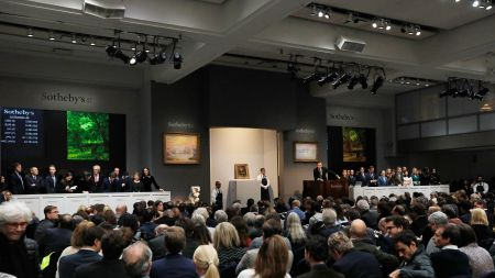 The Sotheby's salesroom in New York.