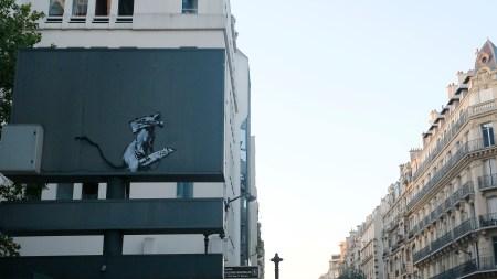 Banksy's graffiti near the Centre Pompidou