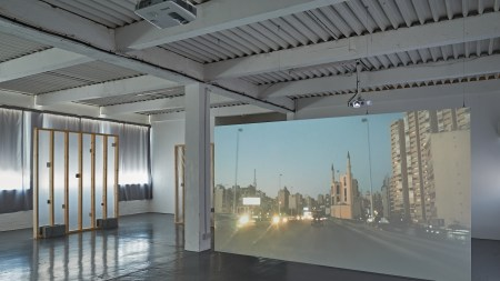 installation shot of Rami George's video
