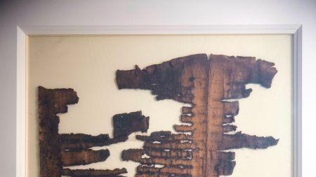 A fragment of Dead Sea Scroll