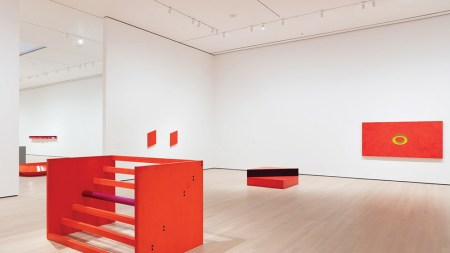 "View of the exhibition ""Judd,"" 2020,"