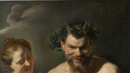 Peter Paul Rubens, 'A Satyr holding