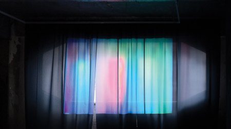 Installation view of Chen Wei's Curtain