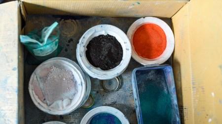 Plastic artist and painter's workshop