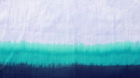 dip dyed technique on cotton fabric