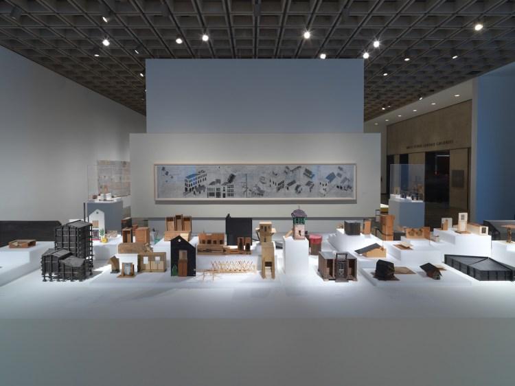 Installation view of 'Siah Armajani: Follow This Line,' 2019, at Met Breuer, New York.