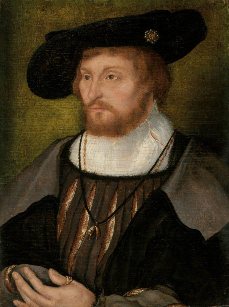 Joos Van Cleve, 'Portrait of King Christian II of Denmark'.