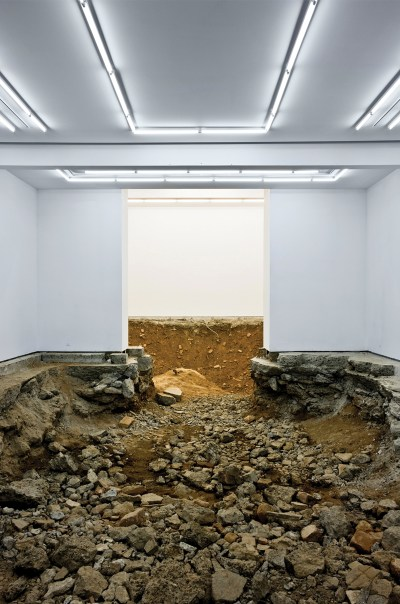 Urs Fischer turned Gavin Brown's gallery into a huge crater for his artwork You in 2007.