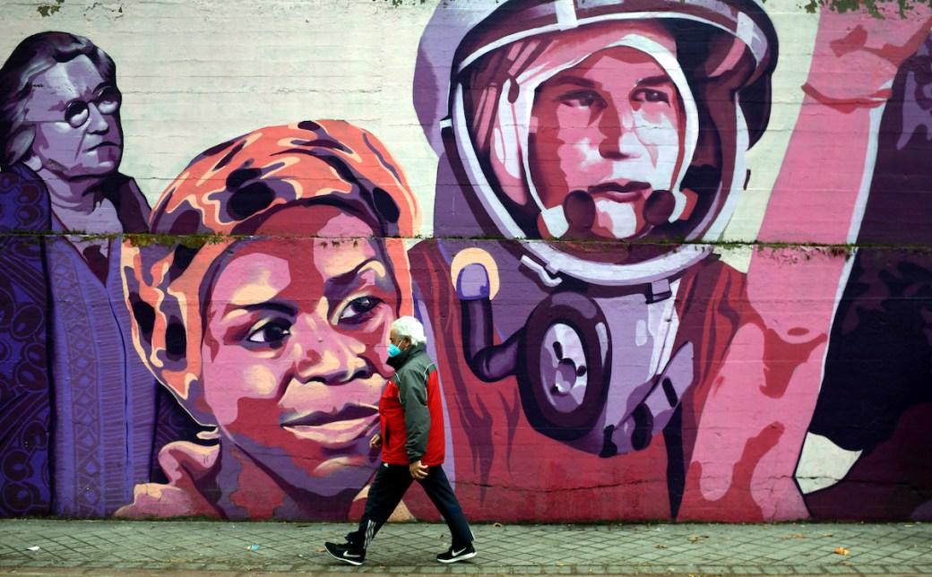 A feminist mural in Madrid has