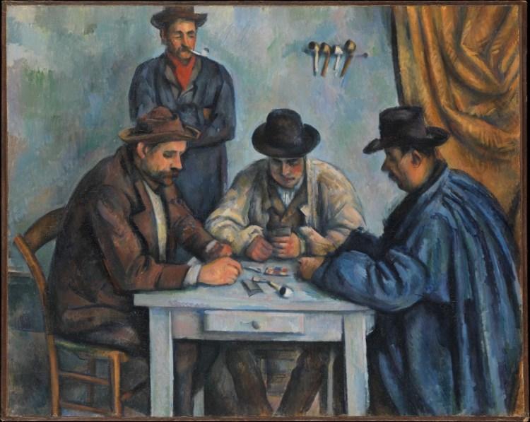 Paul Cézanne, 'The Card Players,' 1890-92, oil on canvas.