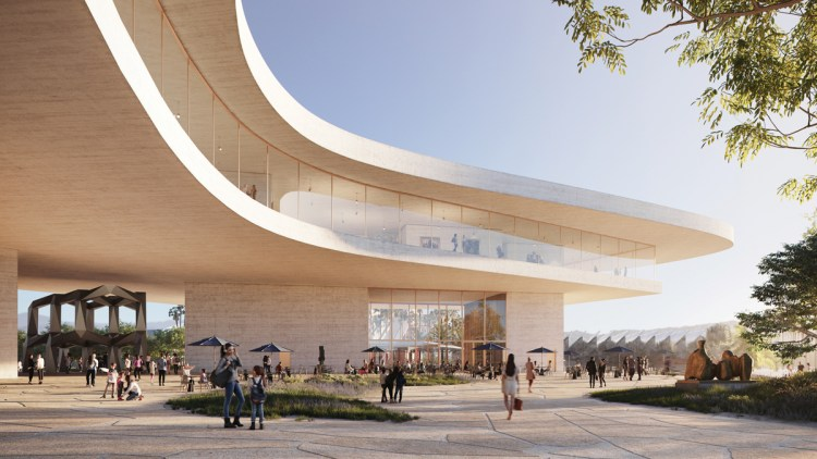 Rendering of LACMA's forthcoming Geffen Galleries building, designed by Peter Zumthor.