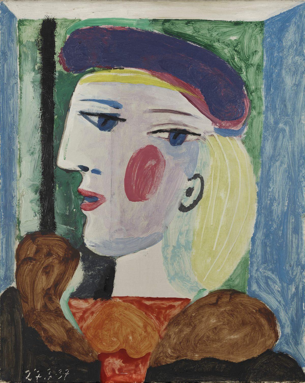 Pablo Picasso, 'Femme au béret mauve',