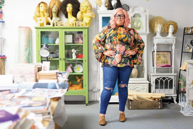 Genevieve Gaignard, an ultimate style chameleon, in her fashionable studio in Los Angeles.