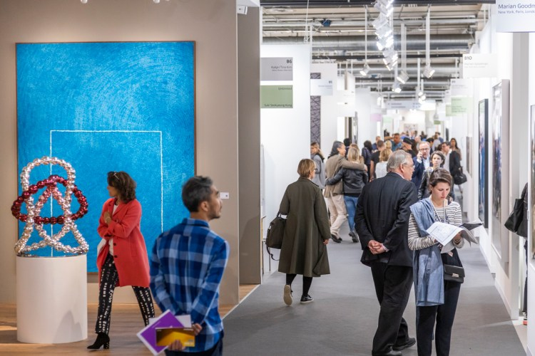 Inside the aisles of the 2019 edition of Art Basel in Switzerland