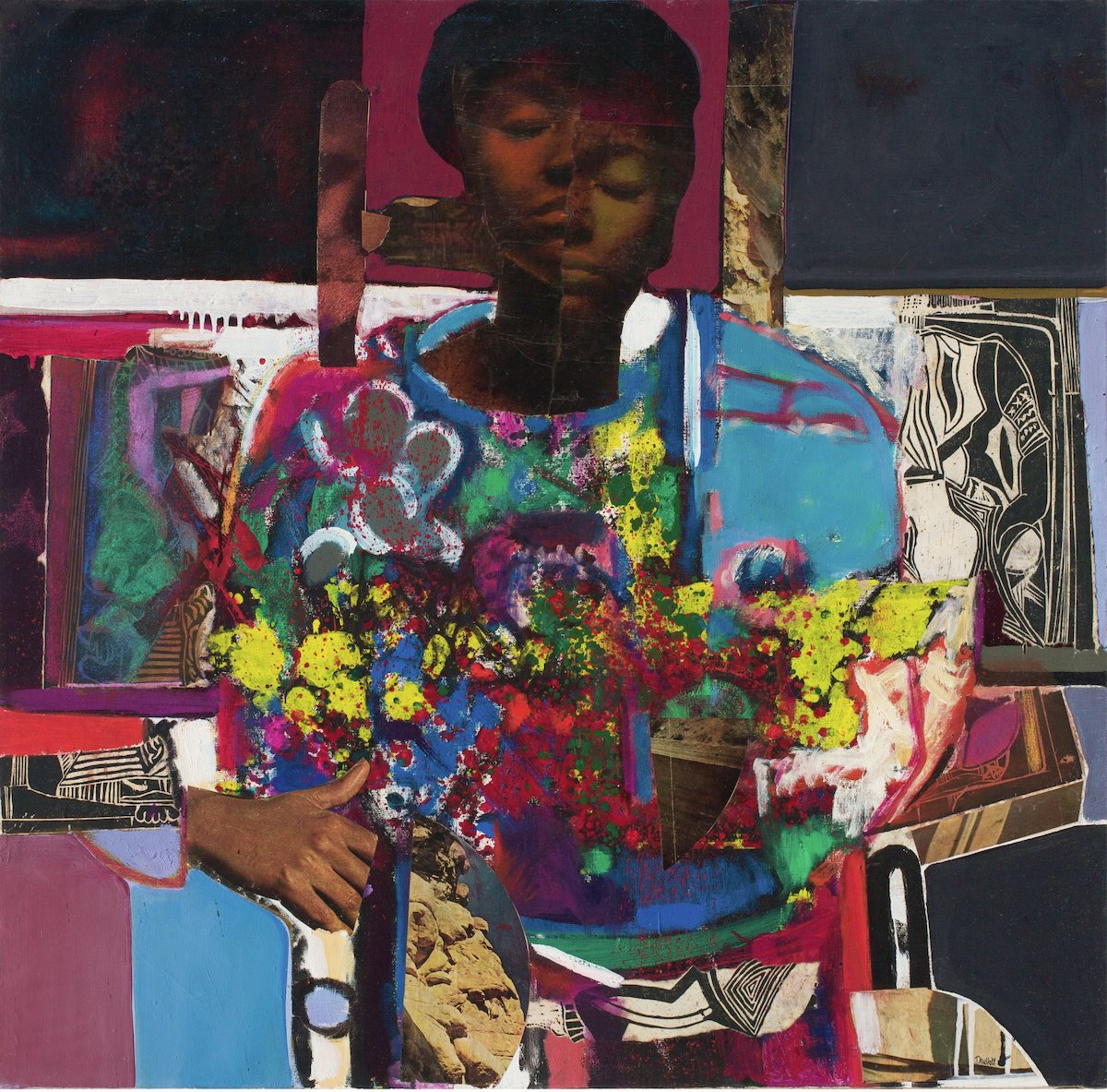 David C. Driskell, 'Woman with Flowers',