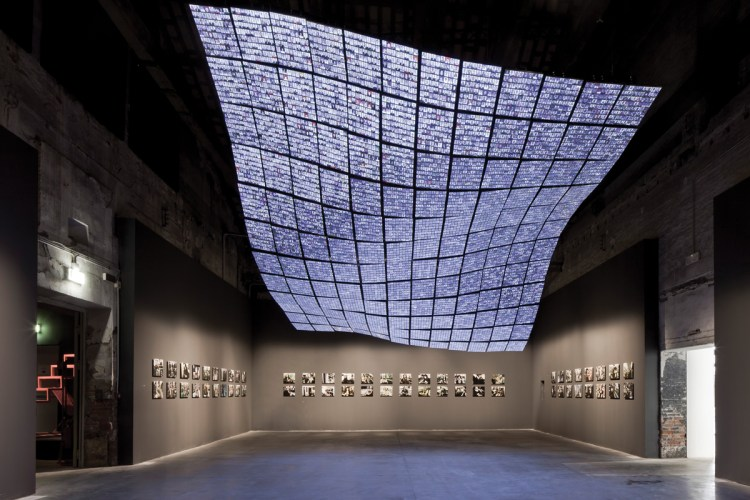 Installation view of Okwui Enwezor's main exhibition for the 2015 Venice Biennale.