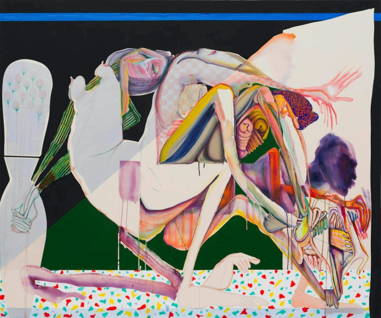 Christina Quarles, 'Cast Out,' 2020, acrylic on canvas.