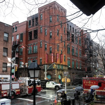 The New York City Fire Department at 70 Mulberry Street following the fire.