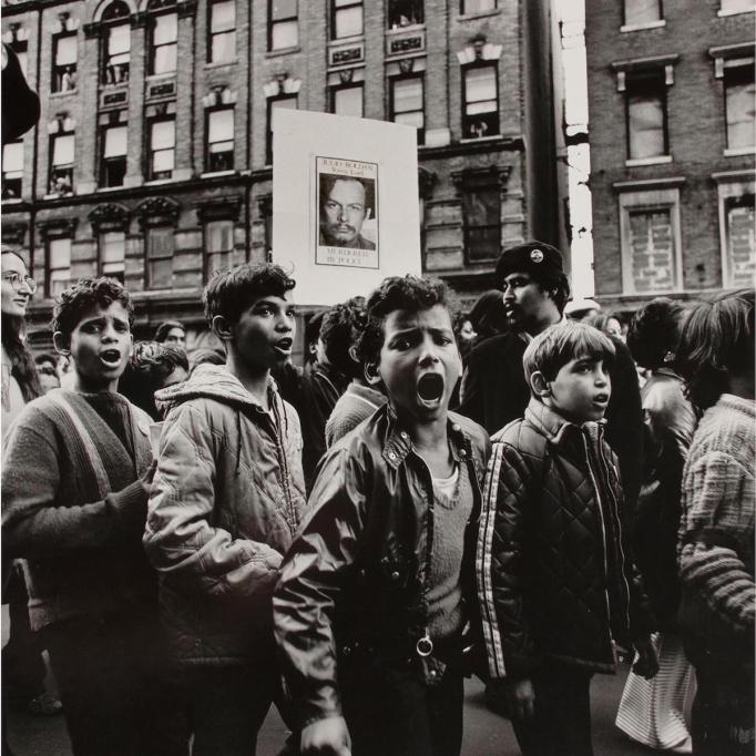 Hiram Maristany, Children in the funeral march of Julio Roldán, 1970.