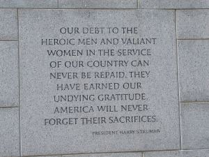 Harry S. Truman quote, Heroes