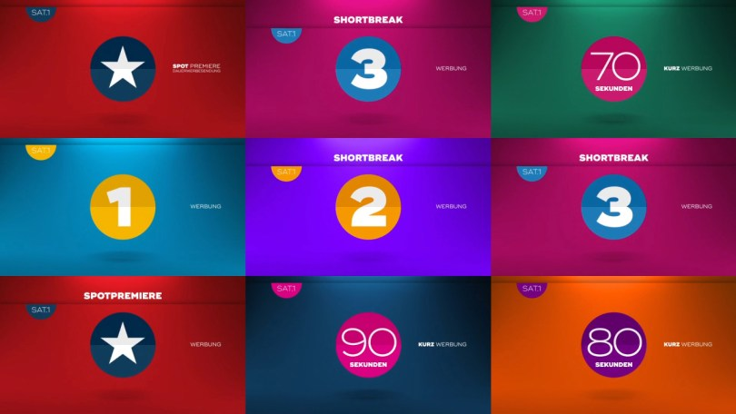 Sat1 Channe rebranding 2016 by ProSieben Creative Services