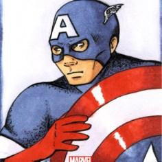 Captain America Sketchcard