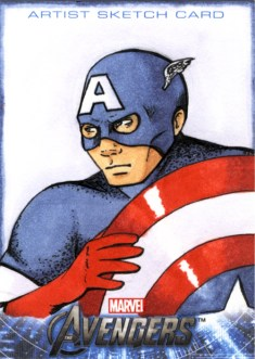 Captain America Sketchcard