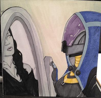 Tali Looking Into Mirror
