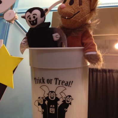 She had these small trick or treat buckets for sale that I thought were brilliant!