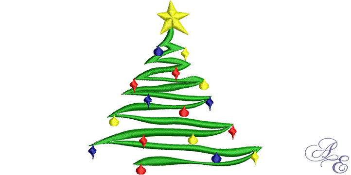 Decorated Christmas Tree Art Of Embroidery
