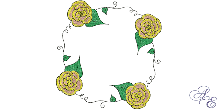 Rose Vine Circle Machine Embroidery Designs Art Of Embroidery