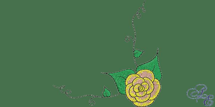 Art Of Embroidery Rose Vine Corner Machine Embroidery Designs