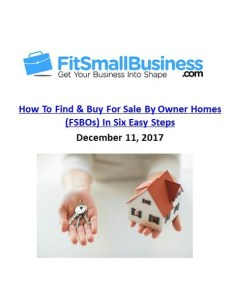 Fit Small Business_How to Find and Buy FSBO Homes in Six Steps