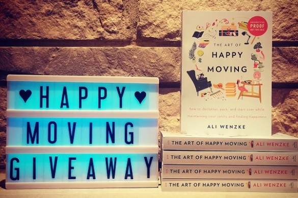 Happy Moving Giveaway. The Art of Happy Moving. www.artofhappymoving.com