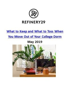 Refinery29_What to Keep and What to Toss When You Move Out of Your College Dorm