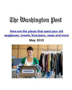 Washington Post_Here are the places that want your old eyeglasses, towels, blue jeans, vases and more