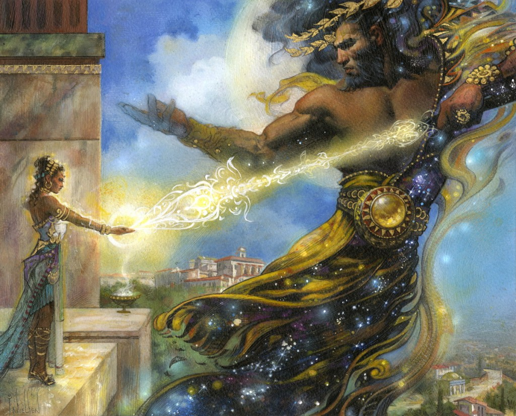 Mtg Art Dictate Of Heliod From Journey Into Nyx Set By