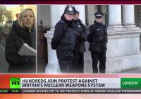 Books not bombs: £100bn Trident nuke replacement plan sparks protest in London (Jan 2015)