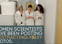 Nobel scientist Tim Hunt made some sexist comments – so #DistractinglySexy female scientists did this in response (June 2015)
