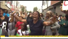 Camberwell protest after charity Kids Company closes (Aug 2015)