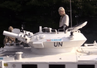 Vivienne Westwood drives tank to Cameron's house and declares war on fracking (Sept 2015)