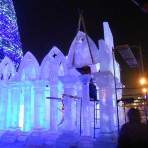 Ледяная скульптура: Колоннада храма