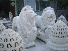 skulptura iz litevogo mramora lvu zashhitniki